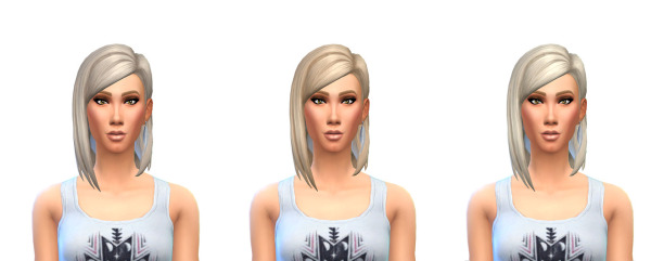 Busted Pixels: Default Natural Colors 12 more colors hairstyle for Sims 4