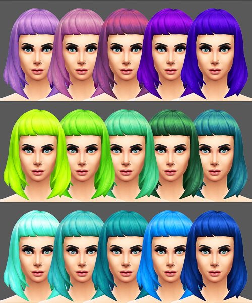 Sqquaresims: Natural colours hairstyle for Sims 4