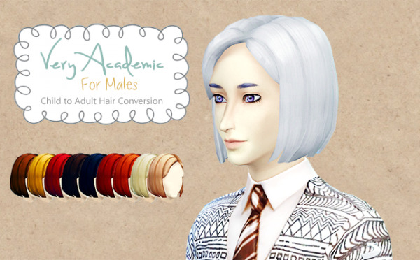 Everything that is not sims: New hairstyle in 9 standard colours plus white for Sims 4