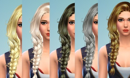 Brownies Wife Sims: Newsea`s Erena hairstyle recolor for Sims 4