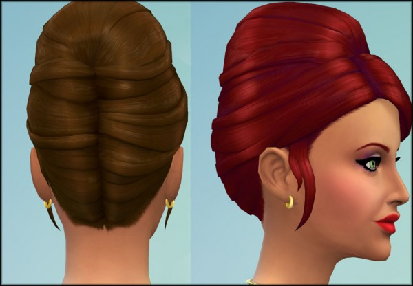 Mod The Sims: Higher Updo hairstyle by Julie J for Sims 4