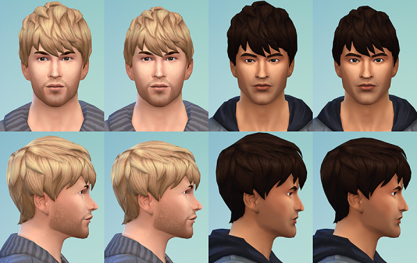 Simsontherope: Messy Short Bangs hairstyles resized for Sims 4