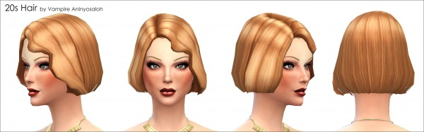 Mod The Sims: 20s Hairstyle new mesh by Vampire aninyosaloh for Sims 4