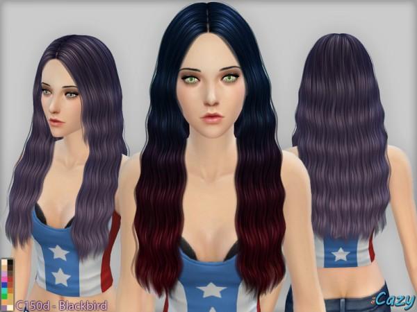 Cazycx tumblr: C150d Blackbird hairstyle test for Sims 4