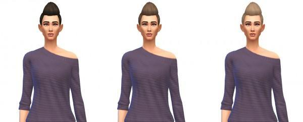 Busted Pixels: Pompadour spikey hairstyle for Sims 4