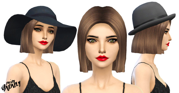 Miss Paraply: Straight bob hairstyle   new mesh for Sims 4
