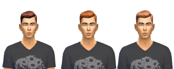 Busted Pixels: Short Crew Cut default hairstyle 12 Colors for Sims 4