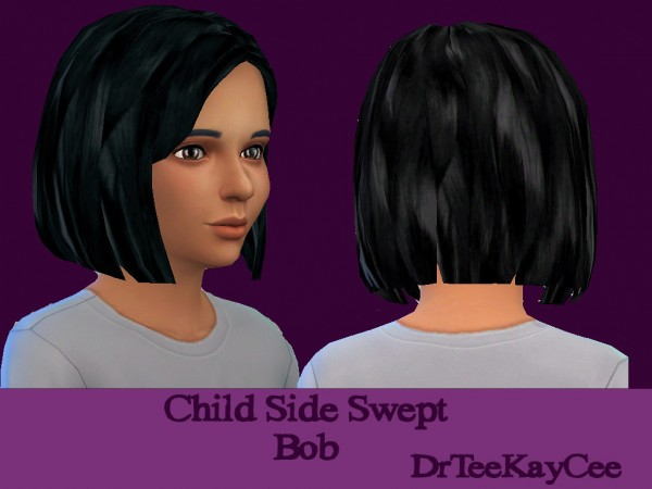 Sim Culture Nation: Side swept bob hairstyle recolor for Sims 4