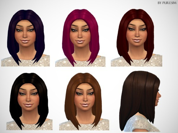 The Sims Resource: Voluminous Hairstyle by PureSim for Sims 4