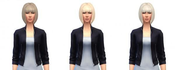 Busted Pixels: Short bob hairstyle for Sims 4