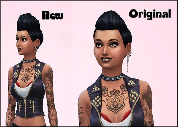 Mod The Sims: Pompadour Spikey hairstyle   new mesh by Julie J for Sims 4