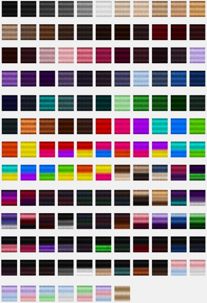 Jenni Sims: Textures for hairs for Sims 4