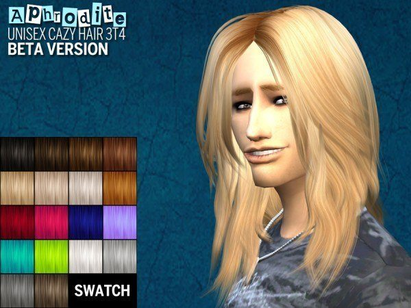 The path of never more: Newsea`s Chain reactions and Cazy`s Aphrodite hairstyles converted for Sims 4