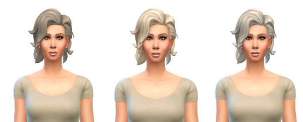 Busted Pixels: Bombshell Hairstyle 12 colors for Sims 4