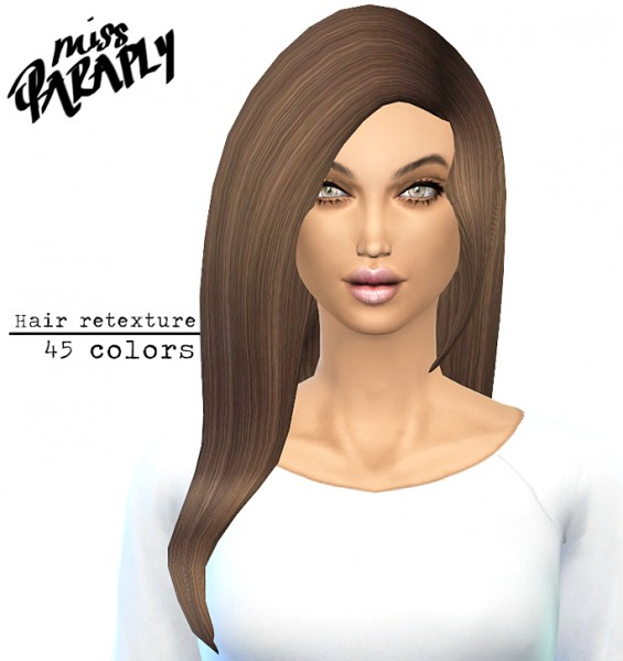 Miss Paraply: David Sims Star Hairstyle retextured 45 colors for Sims 4