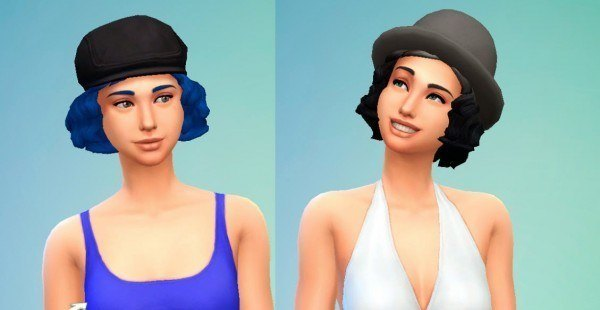 Mystufforigin: Short Wavy Hairstyle for Sims 4