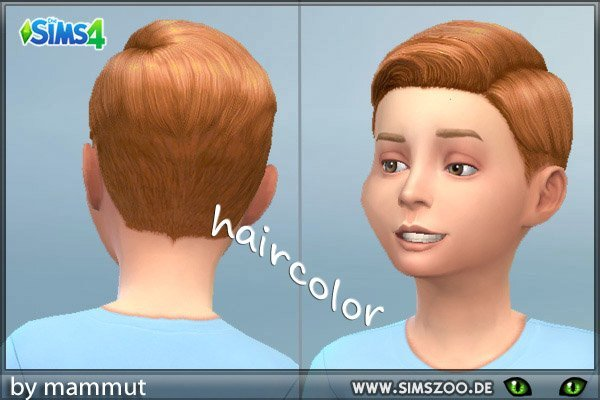 Blackys Sims 4 Zoo: Short Preppy Combed hairstyle red for Sims 4