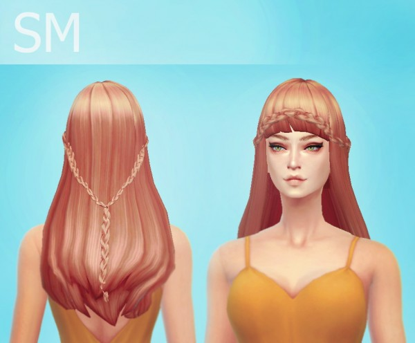 Simmaniacos: Mermaid hairstyle for Sims 4