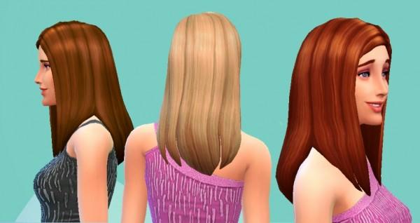 Mystufforigin: Straight Hairstyle for Sims 4