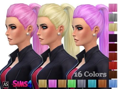 Alexandra Simblr: High Fashion Thick Ponytail hairstyle   new mesh for Sims 4