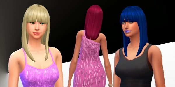 Mystufforigin: Straight bangs Hairstyle converted for Sims 4