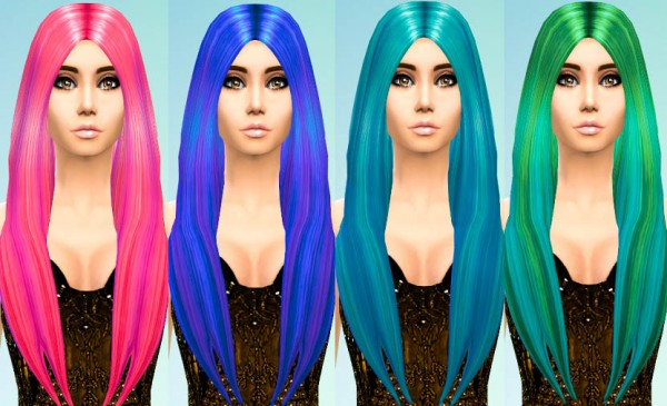 Ohmyglobsims: Balayage Highlights in David Sims Long Classic Style for Sims 4