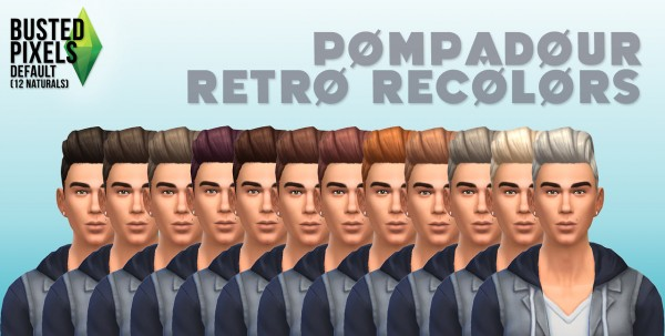 Busted Pixels: Pompadour hairstylle for Sims 4