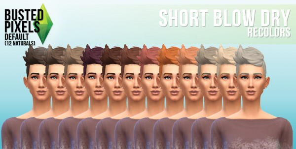 Busted Pixels: Short blow dry hairstyle for Sims 4