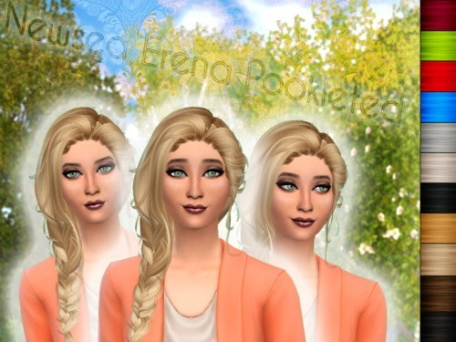 House of the rising sim: Newsea`s Erena hairstyle converted for Sims 4