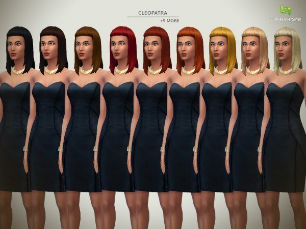 Lumia Lover Sims: Legendary Lovers Hairstyle Set for Sims 4