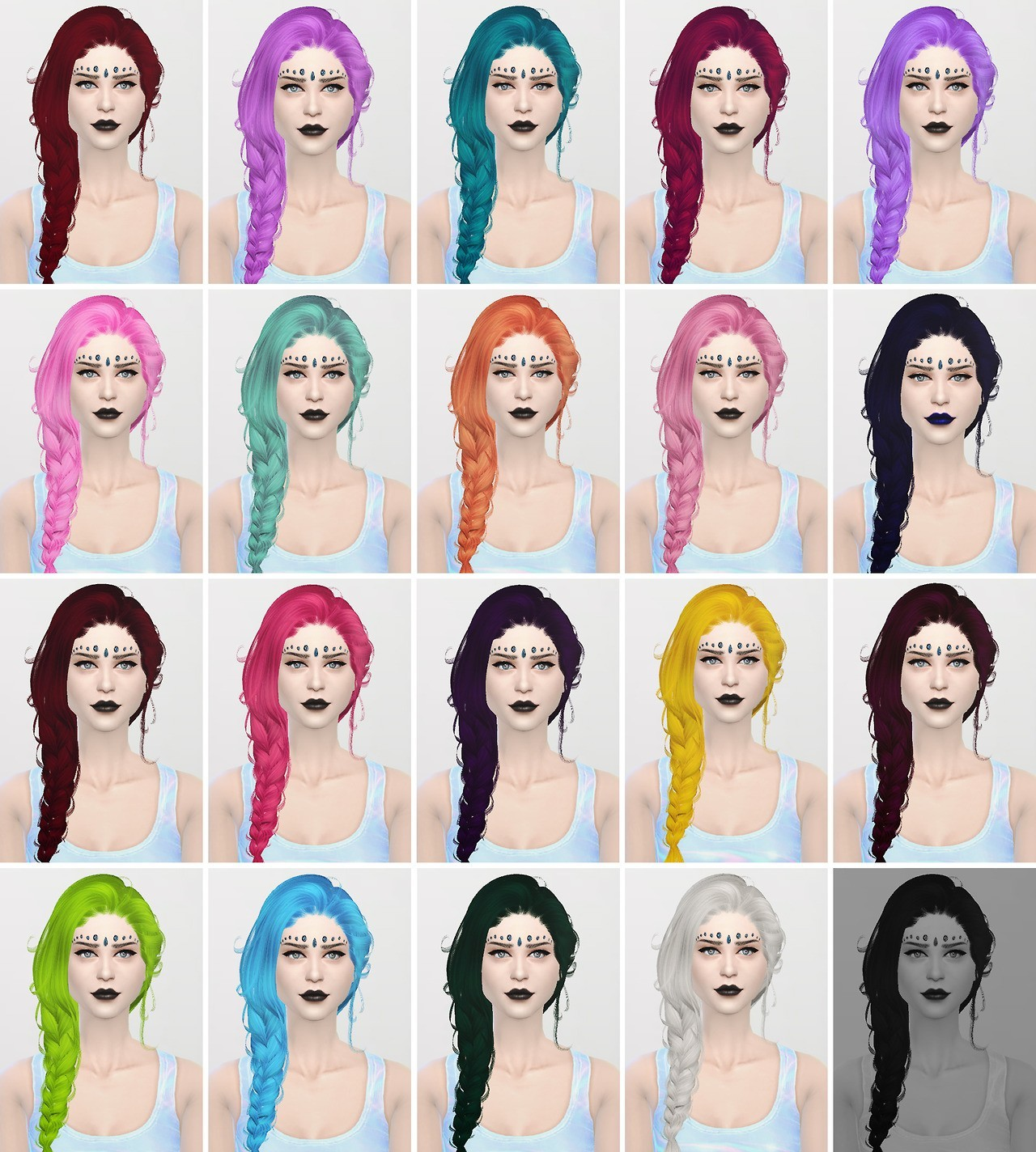 Sims 4 Hairs ~ xxxxxx: Newsea`s Erena hairstyle converted