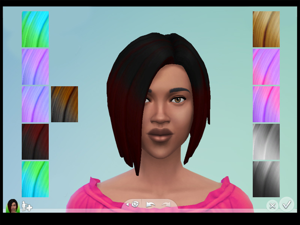 The Sims Resource: Short Wedge Ombre Recolors by Drea1219 for Sims 4