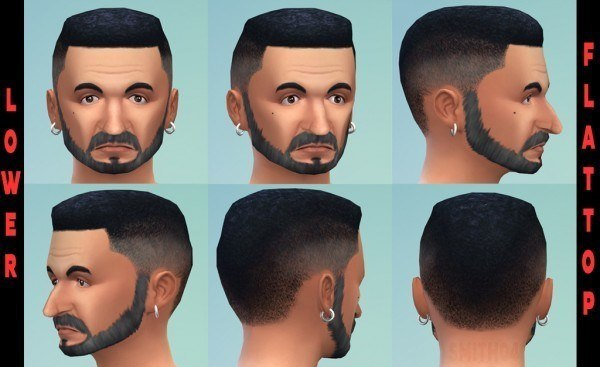 Mod The Sims: Lower Flattop new mesh by Smith 04 for Sims 4