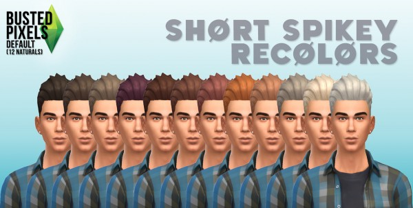 Busted Pixels: Short spikey hairstyle for Sims 4
