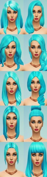 Ohmyglobsims: Mermaid hairs color for Sims 4
