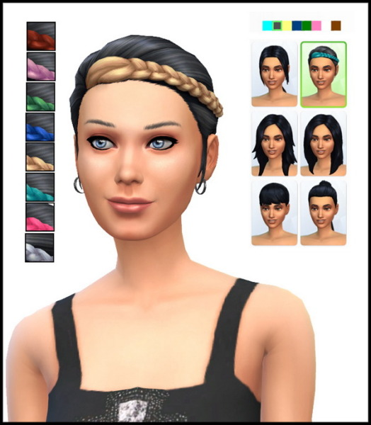 Simista: Pony Braid hairstyle recolours for Sims 4
