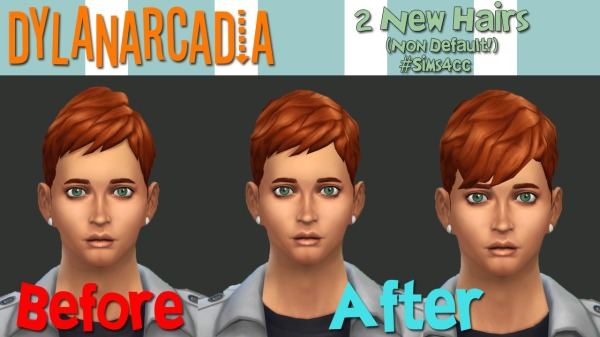 Dylanarcadia: Boyfriend and short neat hairstyles for Sims 4