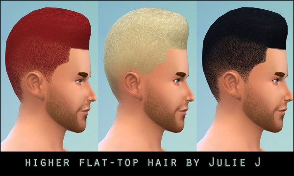 Mod The Sims: Higher Flattop Hairstyle new mesh by Julie J for Sims 4
