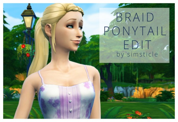 SimsSticle: Braid Ponytail retextured for Sims 4