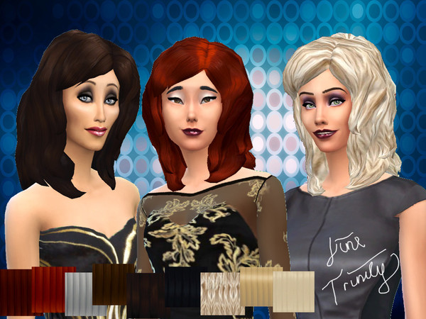The Sims Resource: New mesh Fluffy Hairstyle by JinxTrinity for Sims 4