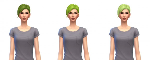 Busted Pixels: Updo bun hairstyle unnatural colors for Sims 4