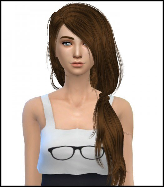 Simista: David Sims Tell Me Hairstyle Converted Retextured for Sims 4