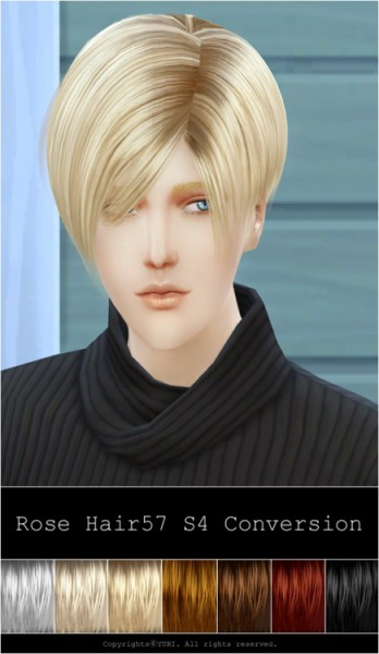 Rg veda twinklestar: Rose hairstyle 57 converted for Sims 4