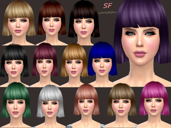 Simlife: New hair mesh bob hairstyle for Sims 4