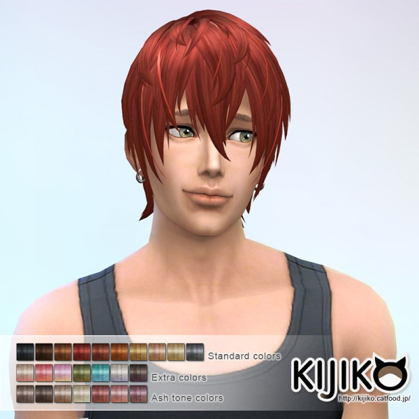 Kijiko Sims: V Shaped Bangs hairstyle for Sims 4