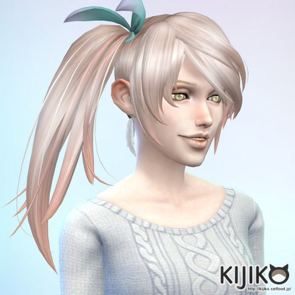 Sims 4 Hairs Kijiko Sims Side Ponytail Hairstyle