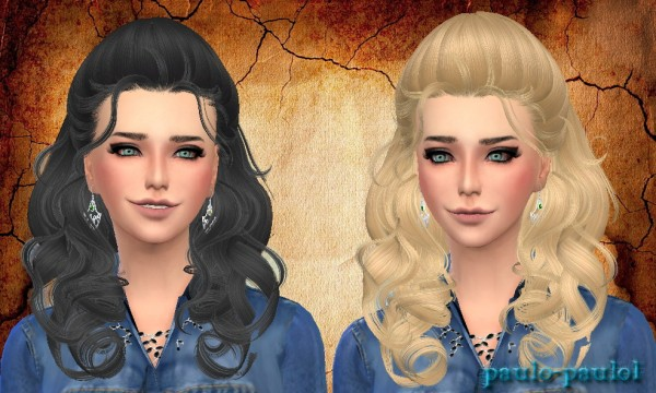 Paulo Paulo: Newsea`s J205 Fingertips hairstyle conversion for Sims 4