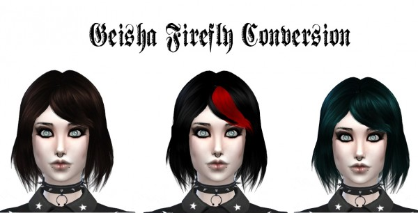 Liahxsimblr: Geisha Firefly Conversion for Sims 4