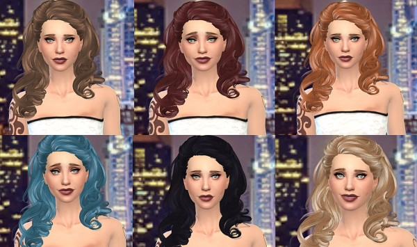 Simstemptation: Newsea's Marina hairstyle converted for Sims 4