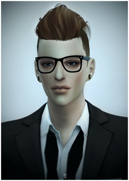 Black le: NewSea`s MACHO hairstyle converted for Sims 4